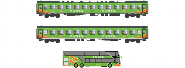 Flixtrain Set B 2x Bomdz + Bus